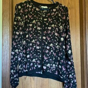 Maurices floral zip up